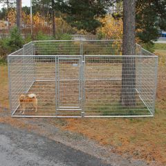 Jämpti Pro Medi kuumasinkitty koiratarha 4 x 4 m pystykorva