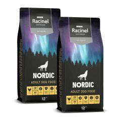 2 x 12 kg Racinel Nordic Adult Chicken, Kana