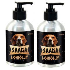 Saaga Lohiöljy koirille ja kissoille, 2 x 275 ml