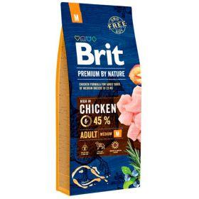 15 kg Brit Premium by Nature Adult M, 10-25 kg aikuiset