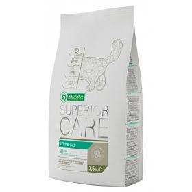 1,5 kg Nature's Protection Superior Care White Cat - valkoiselle kissalle