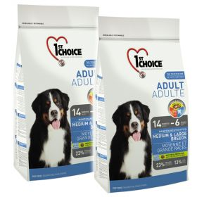 1st Choice Adult Medium & Large 2 x 15 kg