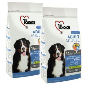 1st Choice Adult Medium & Large 2 x 15 kg