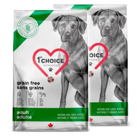 1st Choice Grain Free Medium & Large 2 x 12 kg