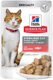 HILL'S SP Young Adult Sterilised, Salmon 12 x 85g