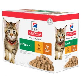 HILL'S SP Kitten Chicken &Turkey Multipack, 1,02 kg