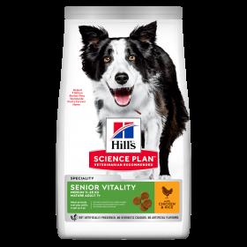 Hill's Science Plan Senior Vitality Aikuinen 7+ keskikokoisen koiran kuivaruoka, kana & riisi 14 kg