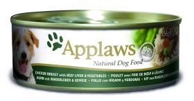 Applaws koira kana, naudanmaksa & vihannes 156g - 12 kpl