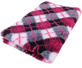 Foxy Fur -makuualusta Pinkki skotti - Eri kokoja