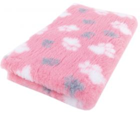 Foxy Fur -makuualusta Pinkki tassu - Eri kokoja