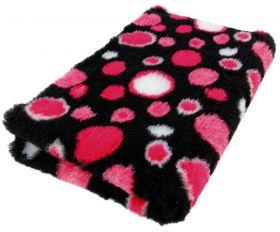 Foxy Fur -makuualusta Punainen kupla - Eri kokoja