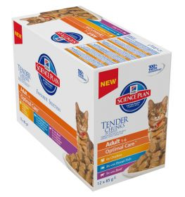Hill's SP Adult Chicken Ocean Fish Beef selection 12x85g Feline