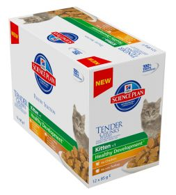 Hill's SP Kitten Chicken Turkey selection 12x85g Feline