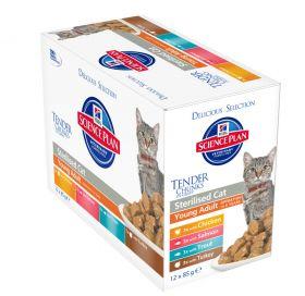 Hill's SP Sterilised Cat Adult Chicken Salmon Trout Turkey selection 12x85g Feline