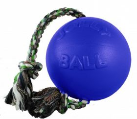 Jolly Romp-n-Roll köysipallo, sininen - Useita eri kokoja