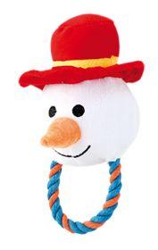 Lumiukko Pehmolelu köydellä