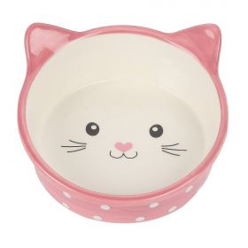 Polka Cat Bowl pinkki kissannaama 300ml
