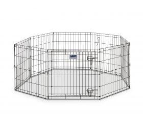Savic koiran metallinen aitaus 61 x 91 cm, 8 osaa musta