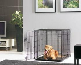 Savic koiran metallinen kuljetushäkki musta  - Eri kokoja