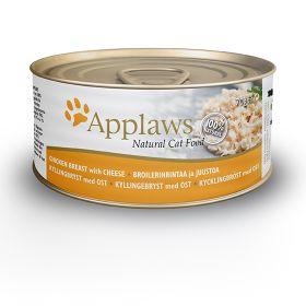 Applaws kissa kananrinta & juusto 70g - 24 purkkia