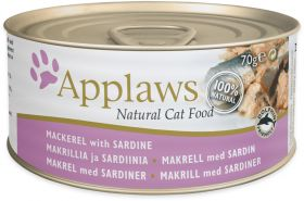 Applaws kissa makrilli & sardiini 70g - 24 purkkia