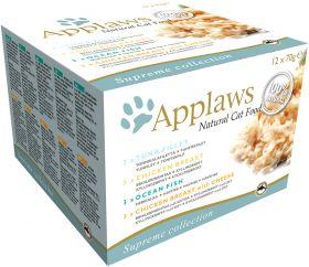 Applaws kissa purkki lajitelma supreme 12x70g - 4 pakettia