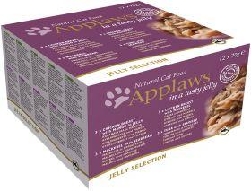 Applaws kissa purkkilajitelma hyytelö 12x70g - 4 pakettia