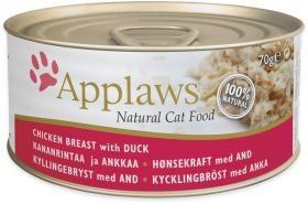 Applaws kissa kana & ankka 70g - 24 purkkia