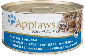 Applaws kissa tonnikala & rapu 70g - 24 purkkia