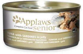 Applaws senior tonnikala sardiini hyytelössä 70g - 24 purkkia