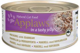 Applaws kissa makrilli & ahven hyytelössä 70g - 24 purkkia
