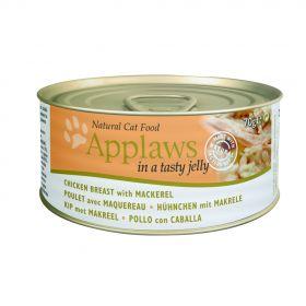 Applaws kissa kana&makrilli hyytelössä 70g - 24 purkkia