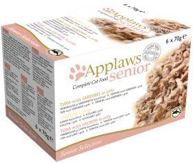Applaws kissa lajitelma hyytelössä 6x70g senior - 4 pakettia