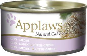 Applaws pentu - Kitten sardiini 70g - 24 purkkia