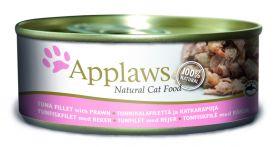 Applaws kissa tonnikalafile & katkarapu 156g - 24 purkkia