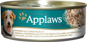 Applaws koira kana & tonnikala hyytelössä 156g - 16 kpl