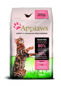 Applaws kissa adult kana & lohi kuivamuona 400g - 6 säkkiä