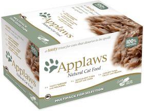 Applaws kissa kala lajitelma 8x60g - 4 laatikkoa