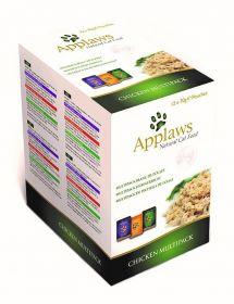 Applaws kissa lajitelma kana 12 x 70g annospussi - 4 laatikkoa