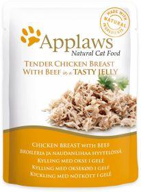 Applaws kissa kana & nauta hyytelössä 70g - 16 pussia