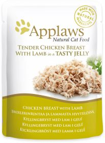 Applaws kissa kana & lammas hyytelössä 70g - 16 pussia