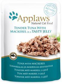 Applaws kissa tonnikala&makrilli hyytelö 70g - 16 pussia