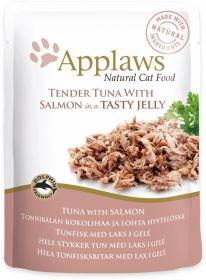 Applaws kissa tonnikala & lohi hyytelössä 70g - 16 pussia