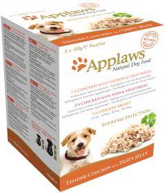 Applaws koira jelly lajitelma 5x100g annospussi - 4 laatikkoa