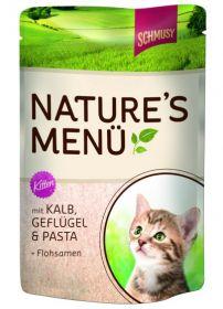 Schmusy Nature´s Menu Kitten vasikka, kana & pasta - 24 pussia