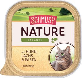 Schmusy Nature kana, lohi & pasta 100g folio - 16 purkkia