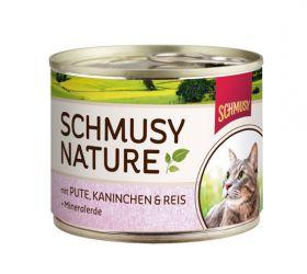 Schmusy Nature´s Menu kalkkuna, kani & riisi 190g - 12 purkkia