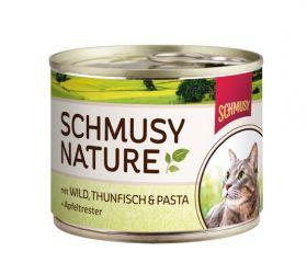 Schmusy Nature´s Menu riista,tonnikala&pasta 190g - 12 purkkia