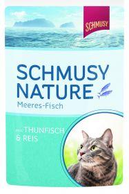 Schmusy meri-kala-pussi tonnikala & riisi 100g - 24 pussia