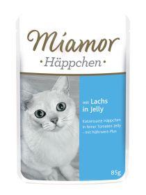 Miamor Häppchen Lohi 85g Jelly annospussi